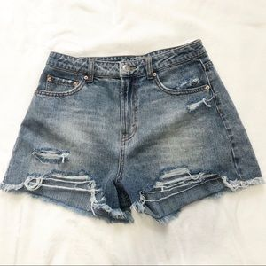 Wild Fable high rise jean shorts ripped size 6